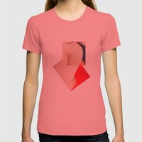 You To Me Womens Fitted Tee Pomegranate SMALL