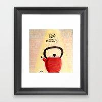 Little Red Teapot Framed Art Print