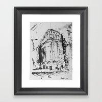 Callao Y Corrientes Framed Art Print