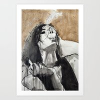 Her life had schooled her to restrain her tongue Art Print