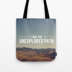Take The Unexplored Path Tote Bag
