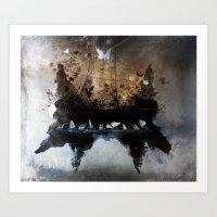 Piandemonium - Piano Rorschach Art Print