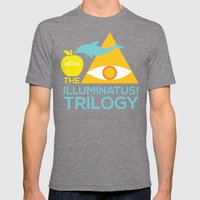 The Illuminatus! Trilogy Mens Fitted Tee Tri-Grey SMALL