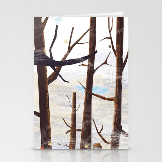 trees tops Stationery Card