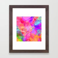 Color Fractal Framed Art Print