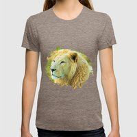 LION AROUND Womens Fitted Tee Tri-Coffee SMALL