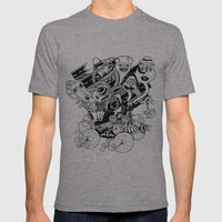 Monster RoadTrip! Mens Fitted Tee Athletic Grey SMALL