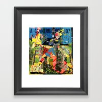 Country Girl / A Temple As the Owl Framed Art Print