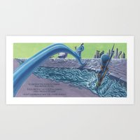 POEM OF FLOOD Art Print