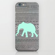iPhone & iPod Case featuring Mint Elephant  by Sunkissed Laughter