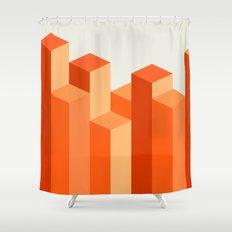 Geometric City Shower Curtain