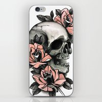 Skull And Roses - Tattoo iPhone & iPod Skin