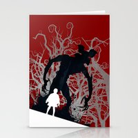 Stranger Things - TV Series   80's   Cult   TV   Monster   Forest   Eleven   Movie   Poster Stationery Cards