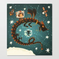 Space Dragon Canvas Print
