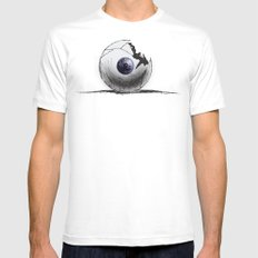 Broken Eye White Mens Fitted Tee SMALL