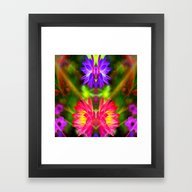 Pink And Purple Lotus Framed Art Print
