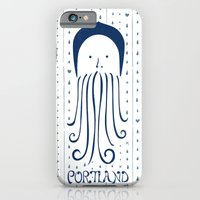 iPhone & iPod Case featuring Rainy Hoodie Beardy by Buchino