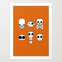 All skulls, all the time. Art Print