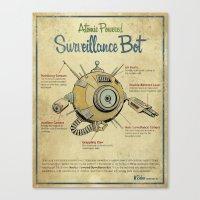 Surveillance Bot Eyeball print. Canvas Print