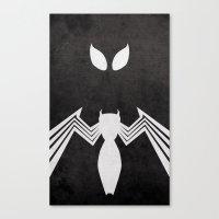Spider-Man Black Costume Canvas Print