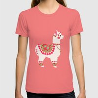 The Alpaca Womens Fitted Tee Pomegranate SMALL