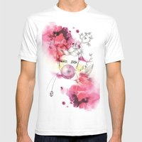 Bubble Birdie Mens Fitted Tee White SMALL
