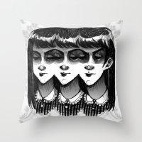 Triplets Throw Pillow