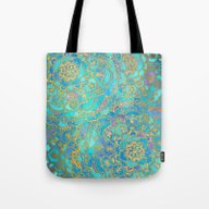 Sapphire & Jade Stained … Tote Bag