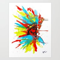 native american Art Prints featuring Native American by ART HOLES