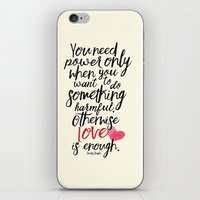 Love is enough - Chaplin sentence Illustration iPhone & iPod Skin