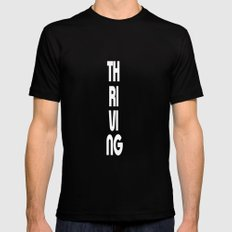Thriving Black Mens Fitted Tee SMALL