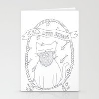 cats with beards Stationery Cards