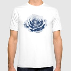 HALFTONE ROSE White SMALL Mens Fitted Tee