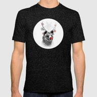 Rudolph The Bear Mens Fitted Tee Tri-Black SMALL