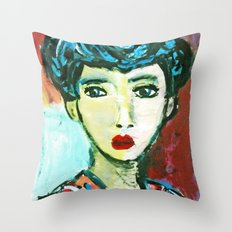 LADY MATISSE IN TEEN YEARS Throw Pillow