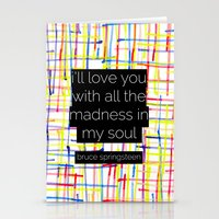 I'll Love You With All T… Stationery Cards