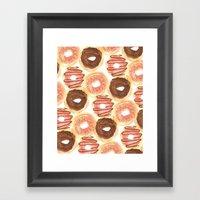 Mmm, Donuts. Framed Art Print