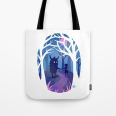 Making Friends with Monsters Tote Bag