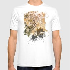 Golden Sky Mens Fitted Tee White SMALL