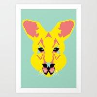 Skippy The Bush Kangaroo Art Print