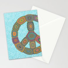 Peace is Groovy Stationery Cards