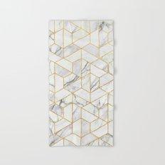 Marble hexagonal pattern Hand & Bath Towel