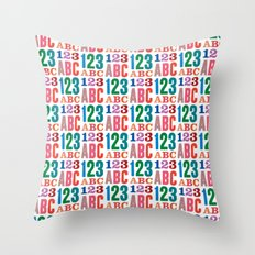ABC 123 Throw Pillow