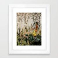 To Befriend A Doe Framed Art Print