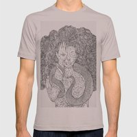 Snake and Sprite Mens Fitted Tee Cinder SMALL