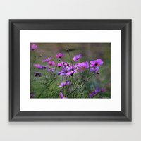 Purple Windflowers Framed Art Print