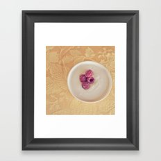 Yogurt and berries Framed Art Print
