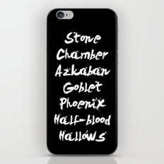 Harry Potter Book Titles iPhone & iPod Skin