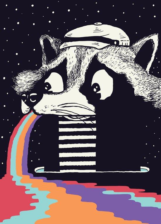 Sick Raccoon  Canvas Print