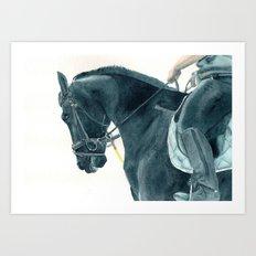 Friesian Horse 2 Art Print